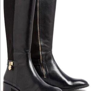 Michael Kors MK Hamilton Leather Riding Boot